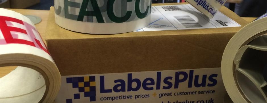 Printed Packaging Tape from LabelsPlus